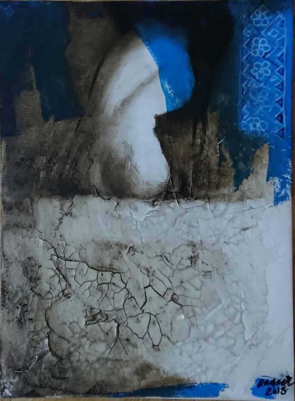 Baqer Hasan Måleri | Blandteknik på duk 30 x 40 cm 2 000 kr