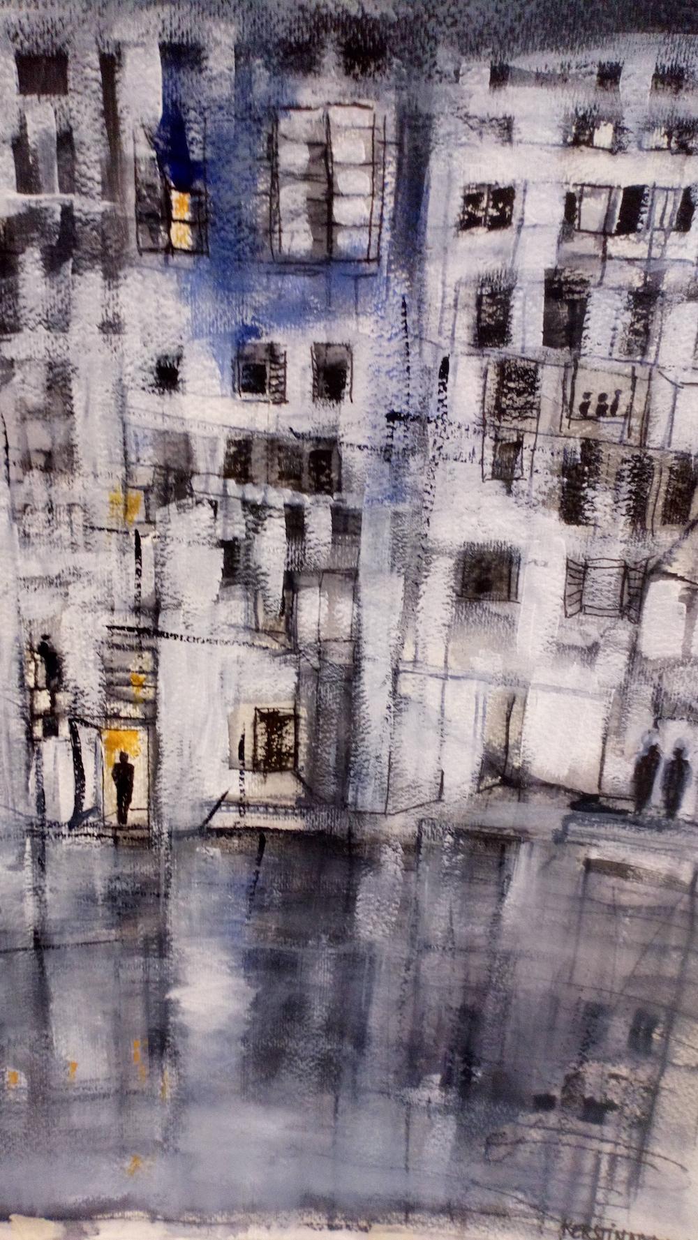 Kerstin Nyman Måleri | Tusch, akryl på akvarellpapper 60 x 80 cm 4 000 kr svenskakonstnarer.se