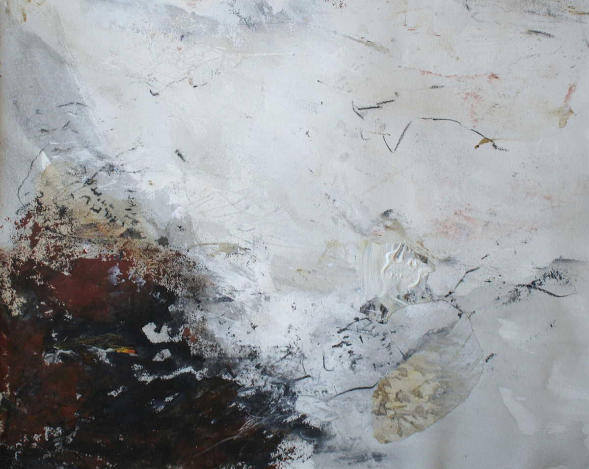 Lynn Gustafsson Måleri | Akryl, collage på akvarellpapper 52 x 61 cmbildstorlek 66 x 77 cm med passepartout 5 000 kr