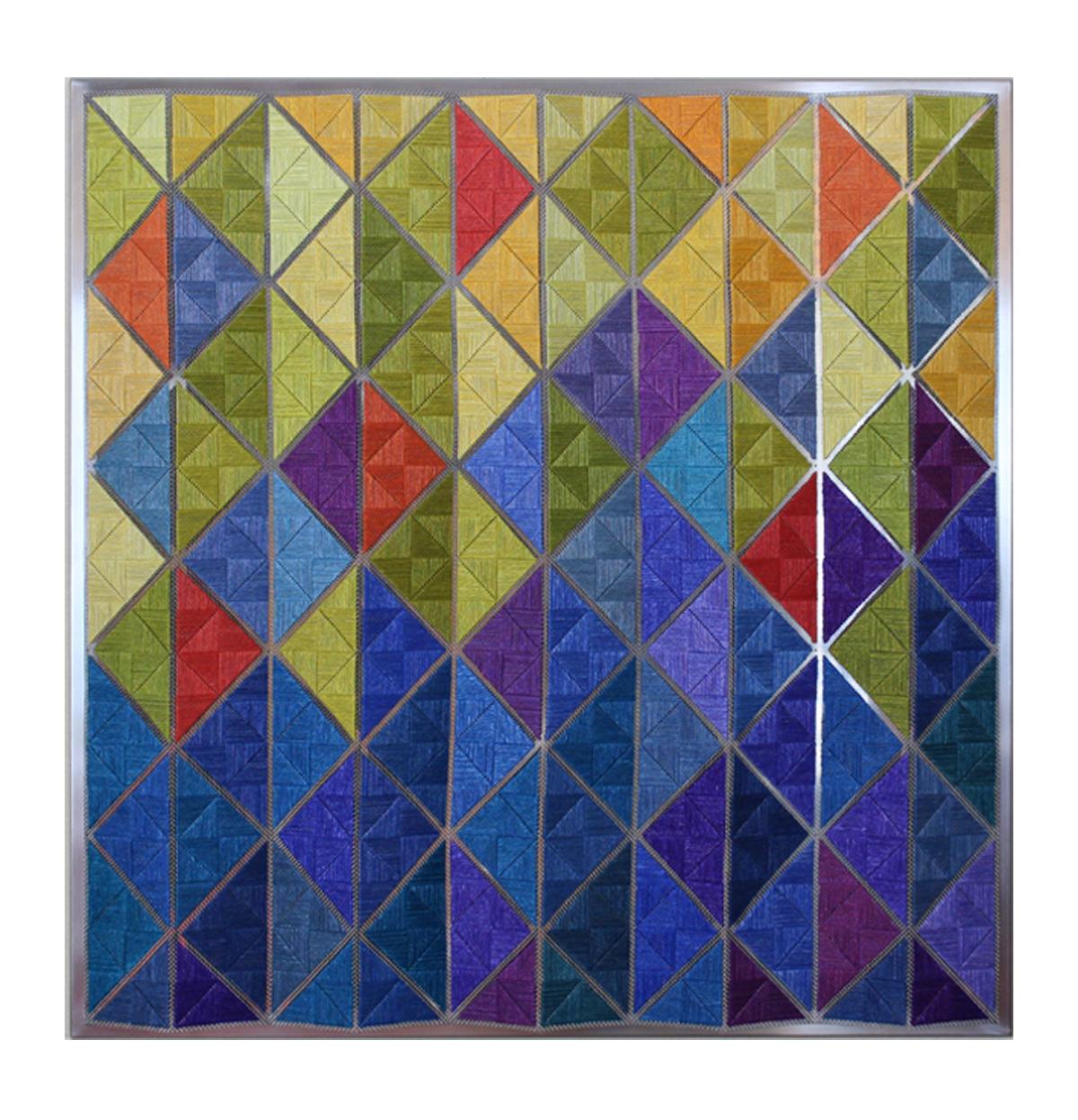 Gudrun Söderholm Textil | Broderi på metallduk H58 x B57 x D4 cm 12 000 kr konsthantverkscentrum.org