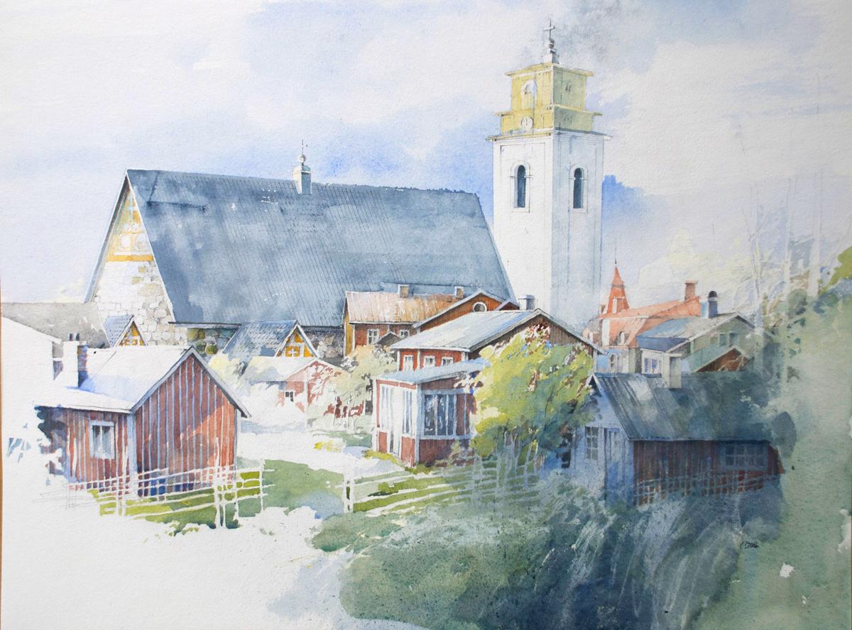 Staffan Pihl Måleri | Akvarell 76 x 57 cm 7 700 kr staffanpihl.se