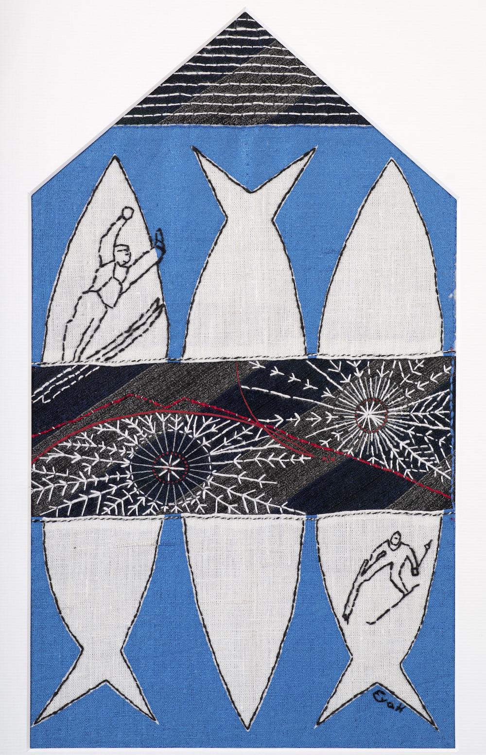 Eva Hagström Textil |Textiltryck och broderi 39,5 x 59 cm inkl. ram 8 500 kr eva-hagstrom.nu