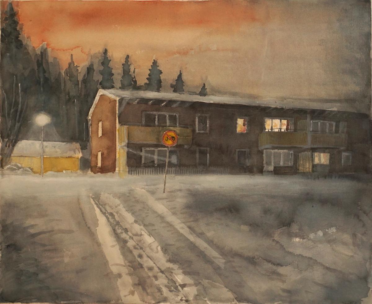 Sven Teglund Måleri | Akvarell 50 x 60 cm 7 000 kr inkl vit ram www.sventeglund.se