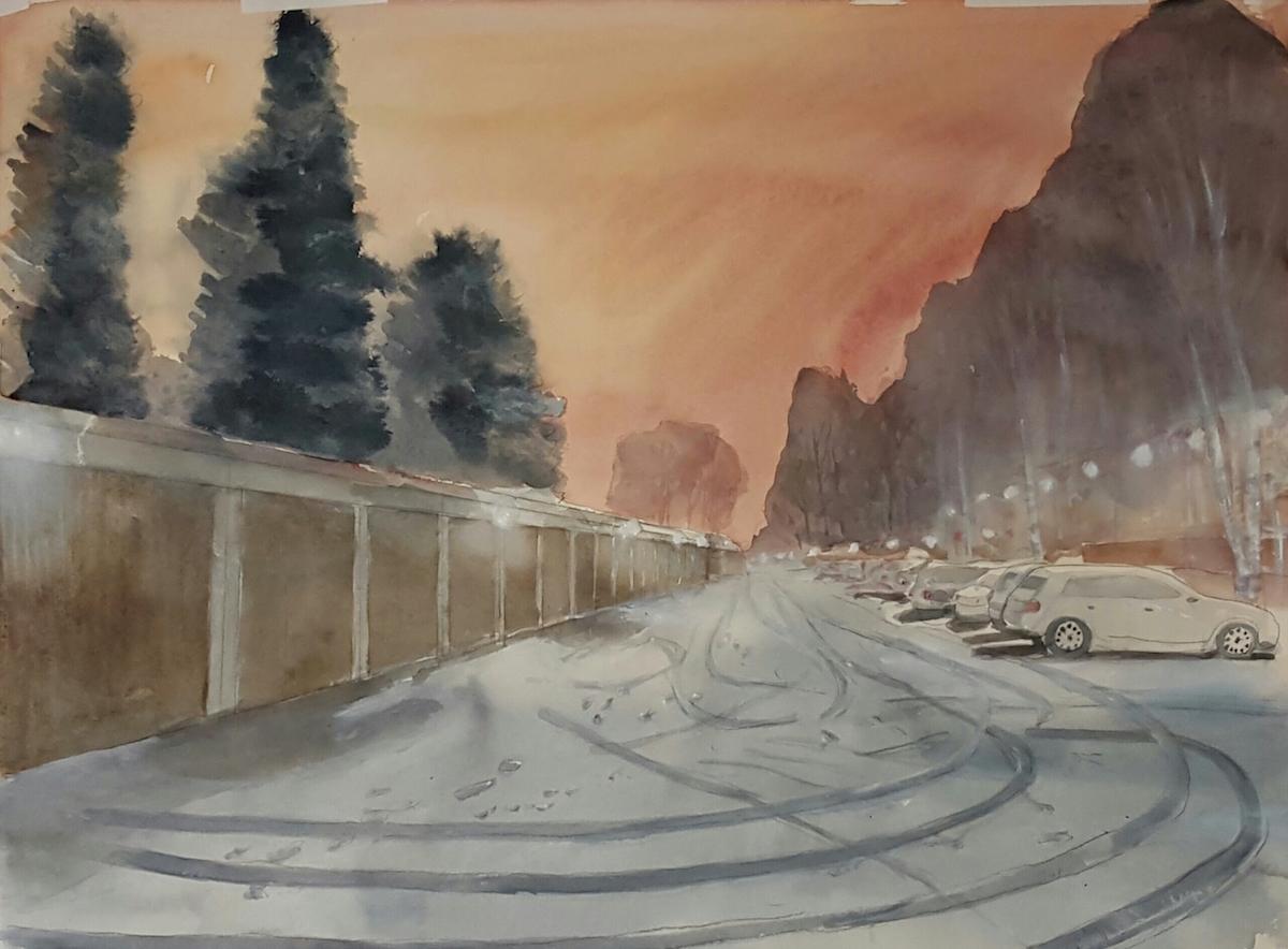 Sven Teglund Måleri | Akvarell 60 x 80 cm 7 000 kr inkl vit ram www.sventeglund.se