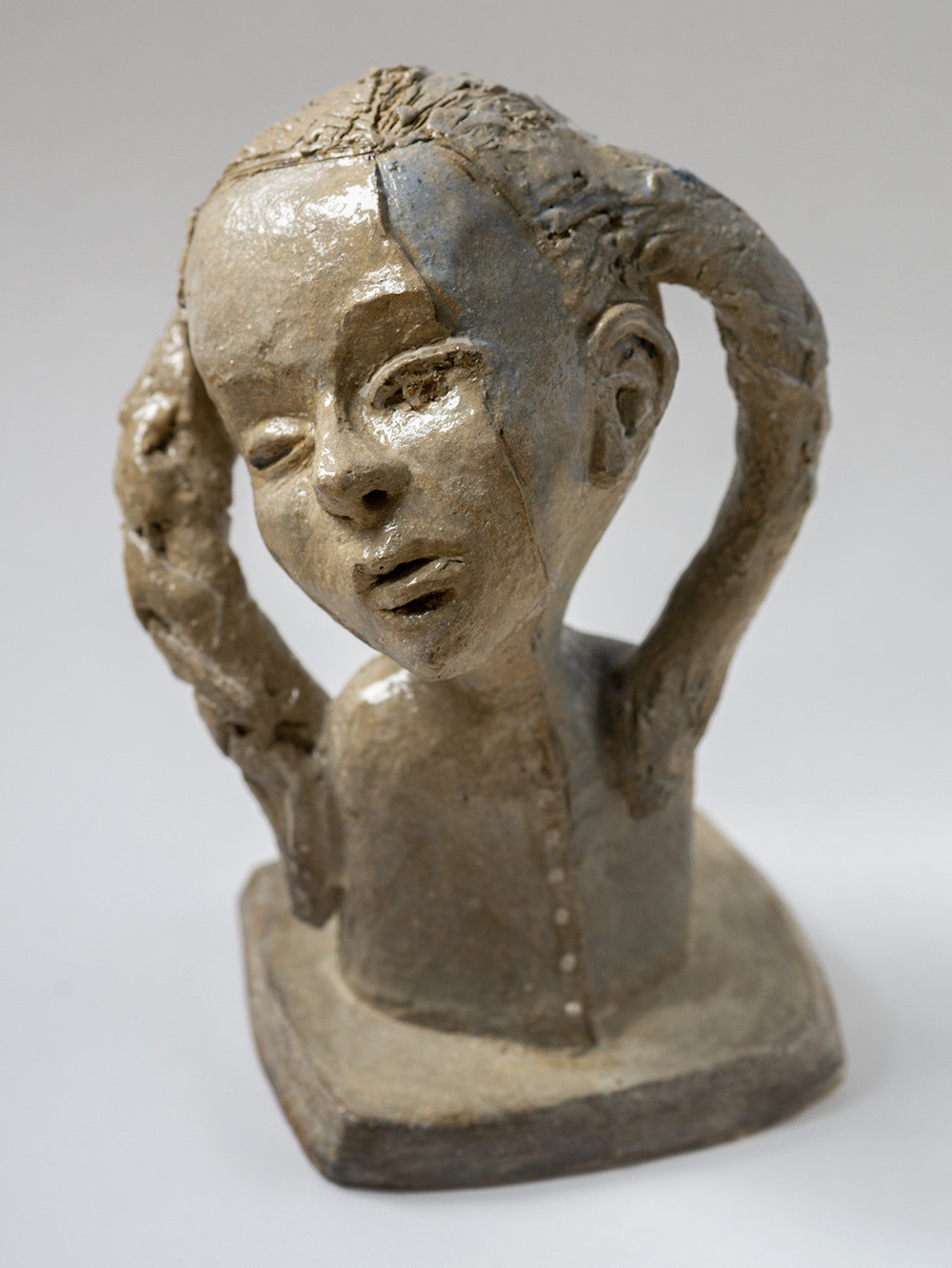 Cecilia Rosenlund Skulptur |Stengods, fylelera H25 x B17 x D15 cm 2 100 kr scillaform.se
