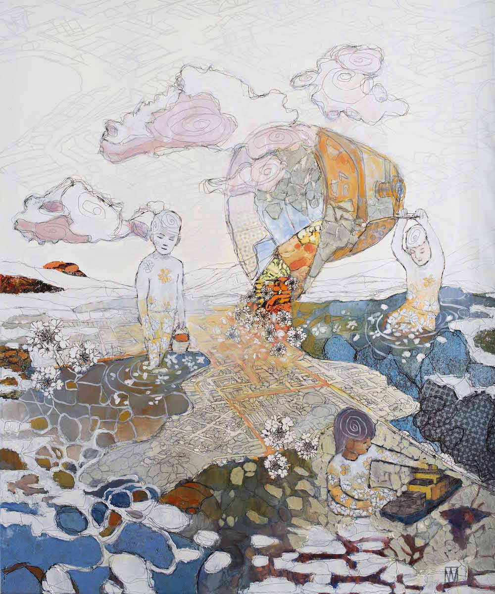 Urban Wikberg Mixed media|Fine Art Print på canvas och måleri 100 x 120 cm, inramad 25 000 kr urbanwikberg.se