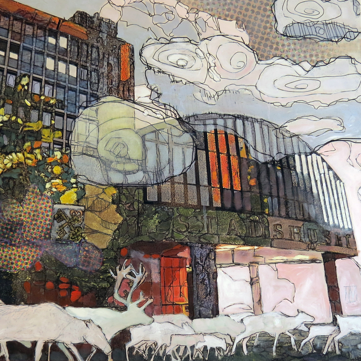 Urban Wikberg Mixed media|Fine Art Print på canvas och måleri 70 x 70 cm 13 000 kr urbanwikberg.se