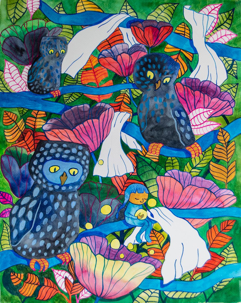 Martina Lundgren Måleri | Akvarell, Akrylgouache (på akvarellpapper) 40 x 50 cm 3 200 SEK (exklusive ram) www.vargaform.se
